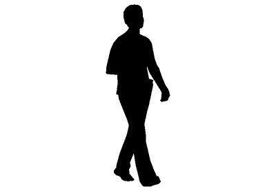 400x277 Human Silhouette Walking