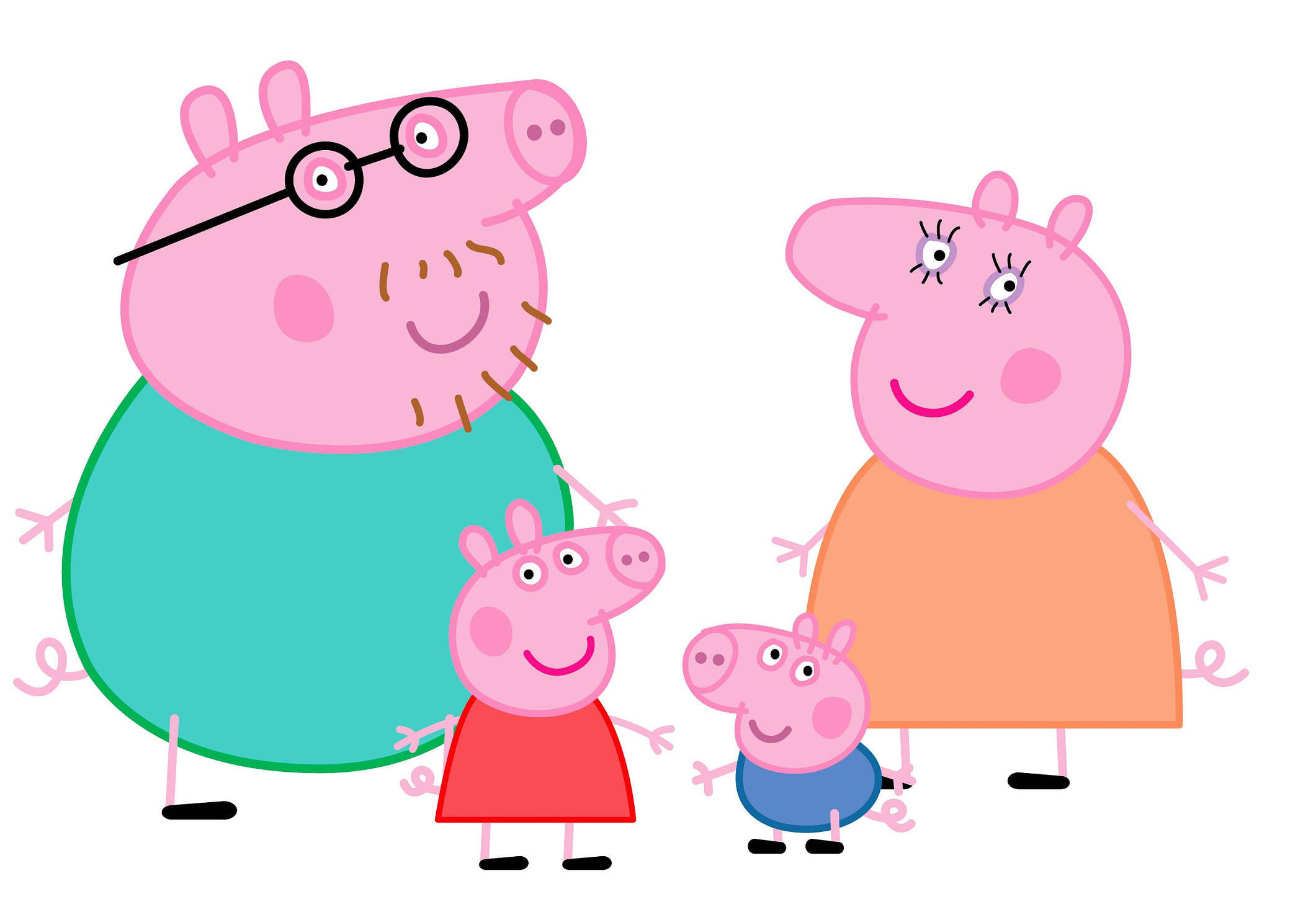 2121x1470 Peppa Pig Family Svg, Peppa Pig Svg, Peppa Pig Family Svg, Peppa