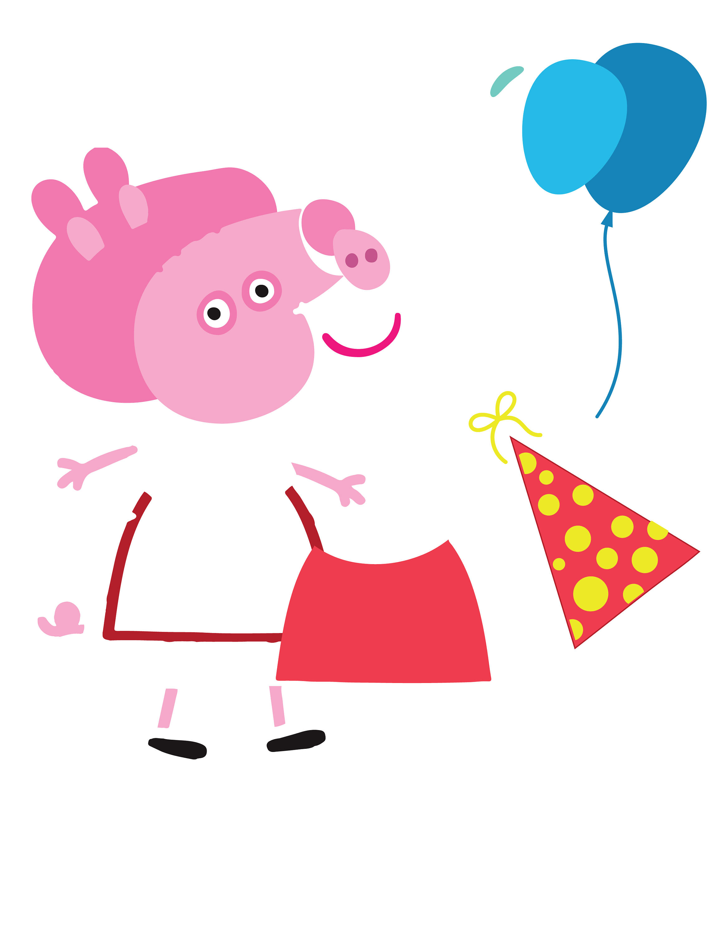 2318x3000 Peppa Pig Birthday Svg, Layered Peppa Pig, Vector Peppa Pig