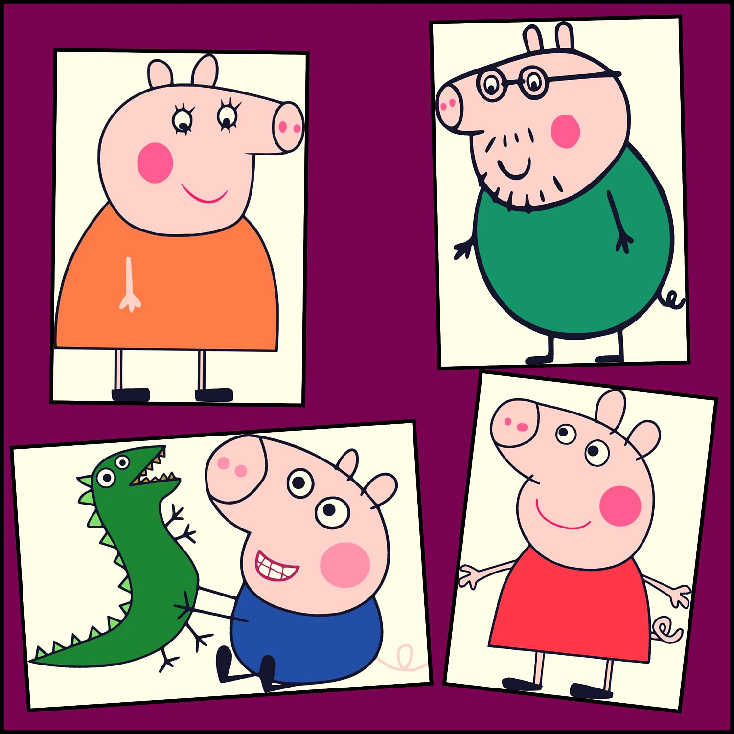 1500x1500 Peppa Pig Svg Pig Layered Svg Peppa Pig Designs For Cricut