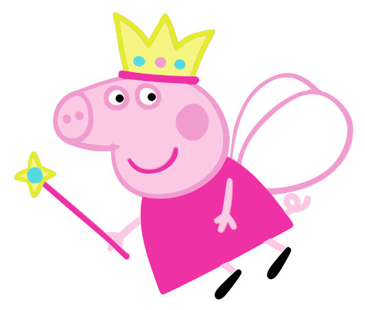 532x451 Peppa Pig Svg Cartoon Svg Dxf Cricut Silhouette Cutting