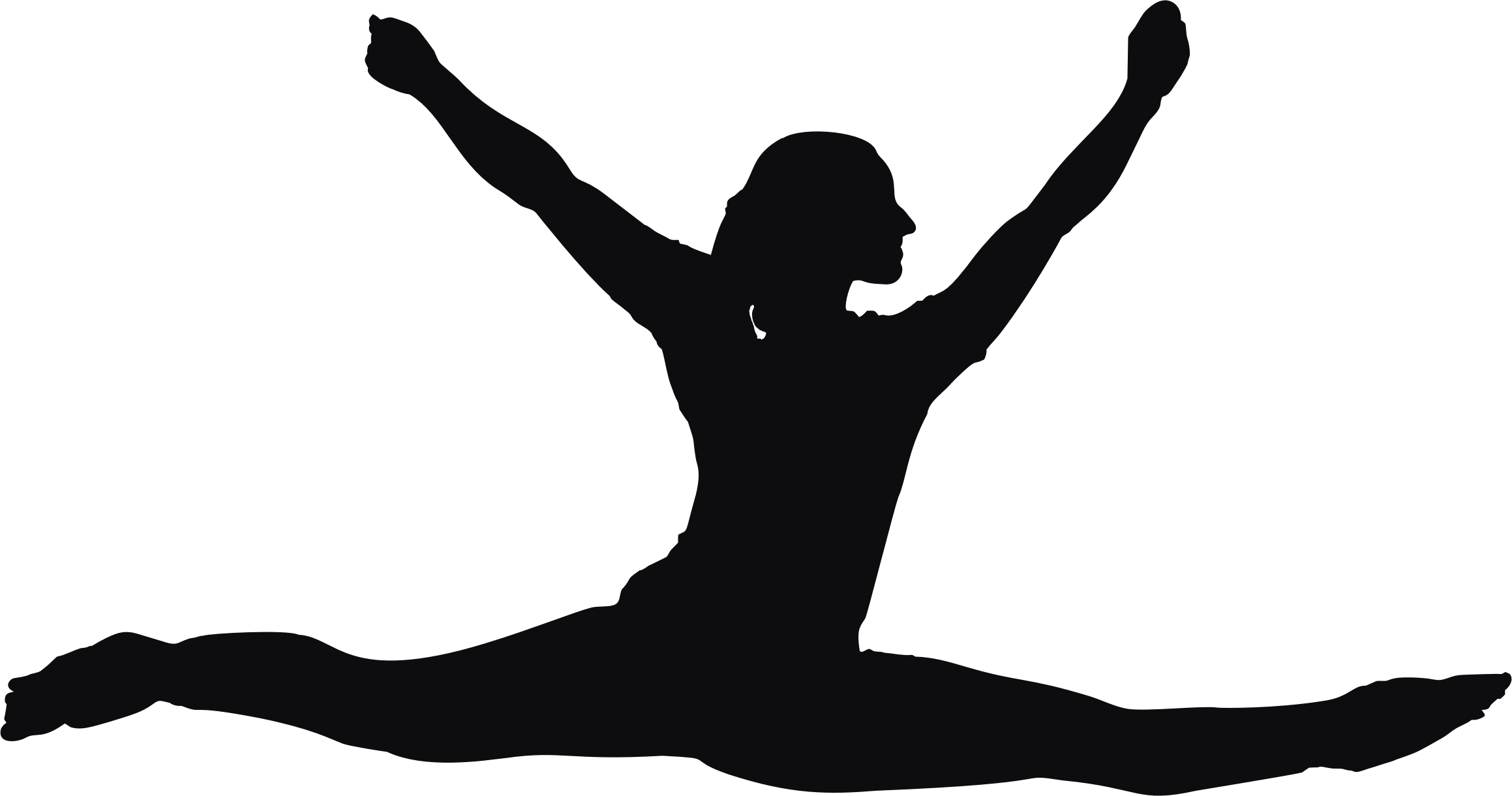 2318x1220 Female Performer Silhouette Minus Cloth Icons Png