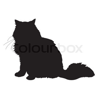 320x320 A Black Silhouette Of A Cat Stock Vector Colourbox