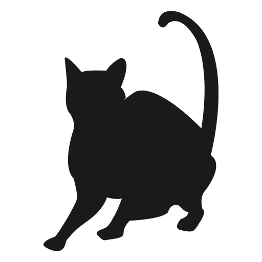 512x512 Sitting Cat Silhouette