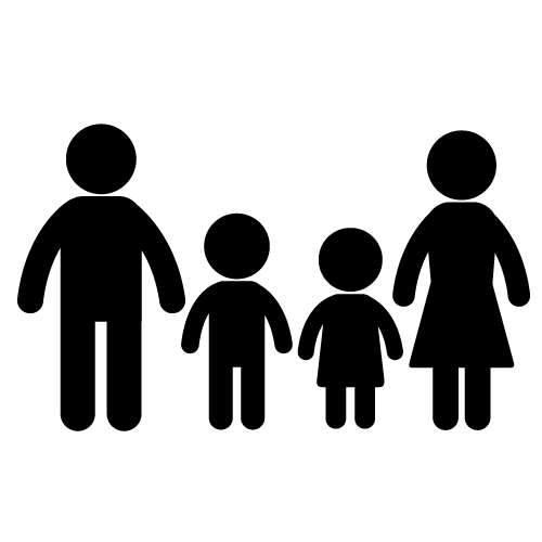 500x500 Family Silhouette Clip Art Free Clipart Images 2