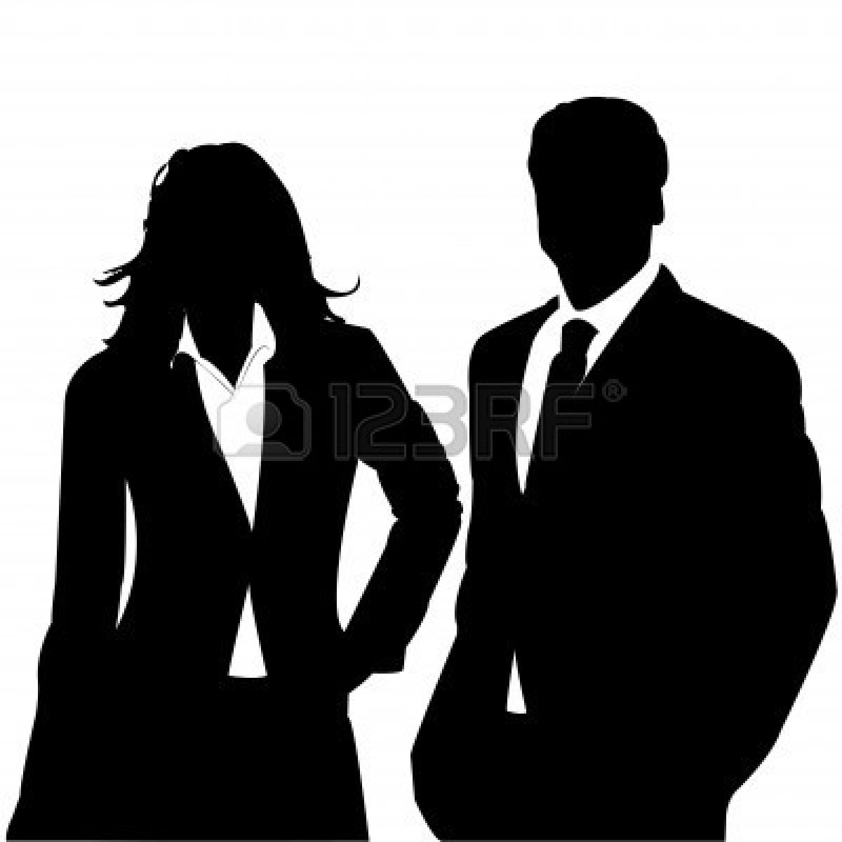 1200x1200 Business Silhouette Clip Art