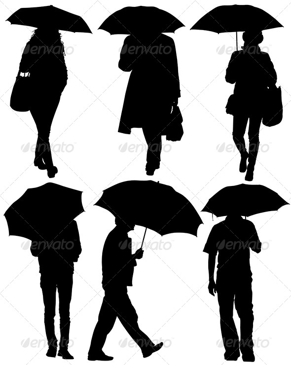 590x740 Man And Woman With An Umbrella By Iamsania Graphicriver