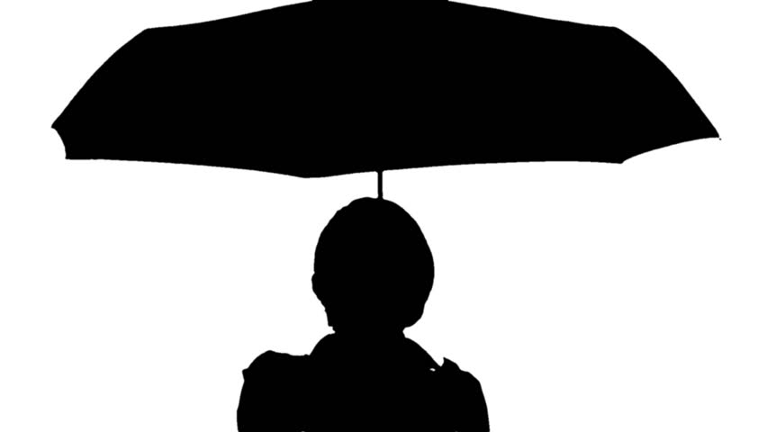 852x480 Silhouette A Man Holding An Umbrella Black Front Silhouette