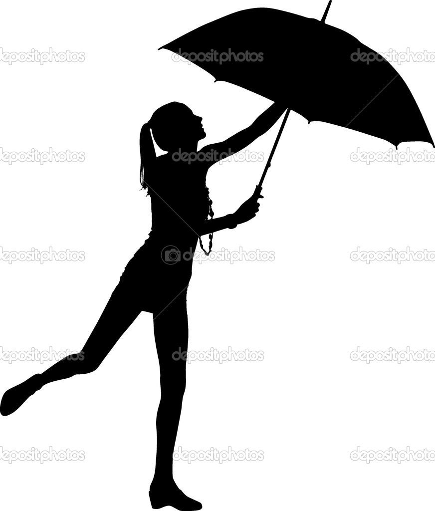 872x1024 Clip Art Person Holding Umbrella Outline Clipart