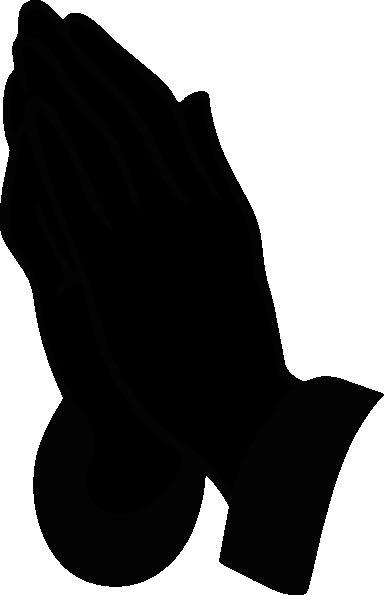 384x595 Jonadab Praying Hands Silhouette Clip Art