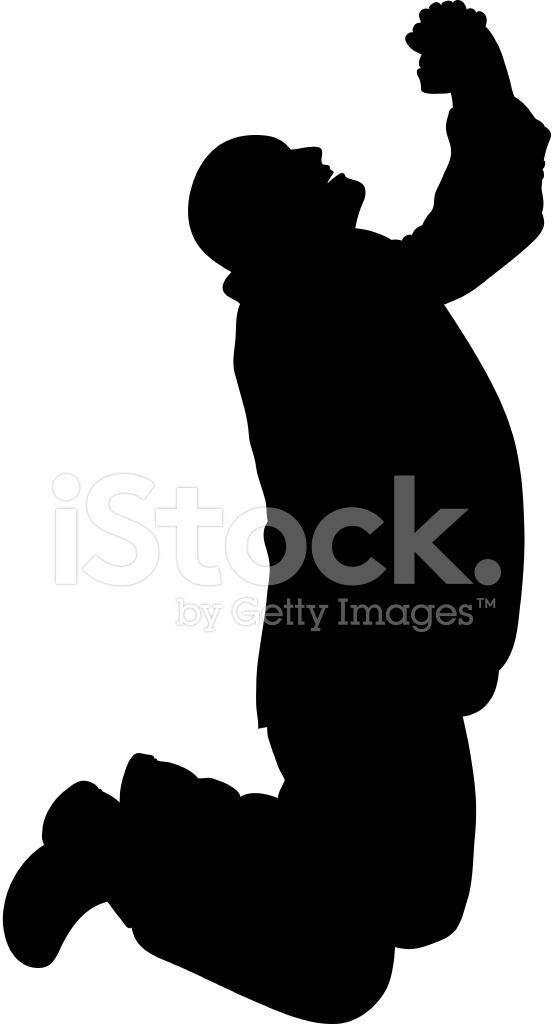 554x1024 Praying Man Silhouette Stock Vector