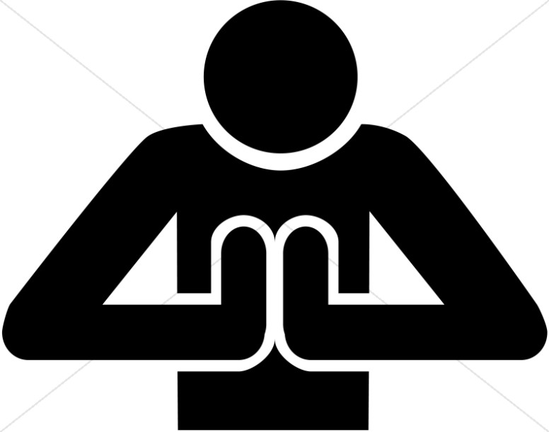 776x612 Praying Person Front View Symbol Prayer Clipart