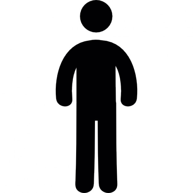 626x626 Frontal Standing Man Silhouette Icons Free Download