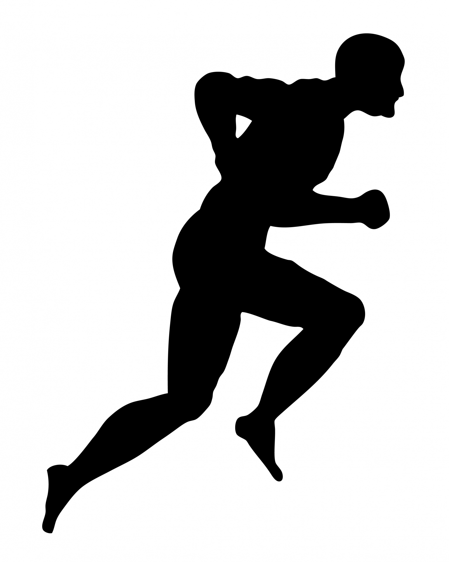 1535x1920 Running Man Silhouette Clipart Free Stock Photo