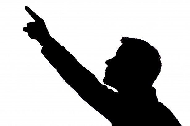 615x407 Man Pointing Silhouette Clipart Png