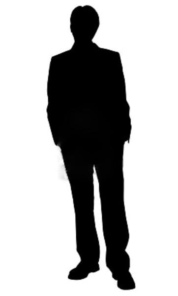 362x600 Business Man Standing Silhouette In Black And White Free Images