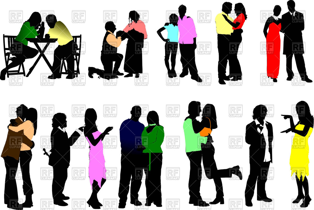 1200x803 Silhouettes Of Couples In Love Royalty Free Vector Clip Art Image