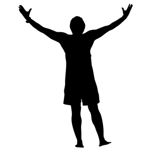 300x300 Victory Man Silhouette Clipart, Cliparts Of Victory Man Silhouette