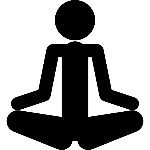 512x512 Person Silhouette In Meditation Posture In Spa