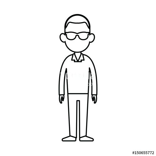 500x500 Person Outline Full Length People Silhouette Outlines Person