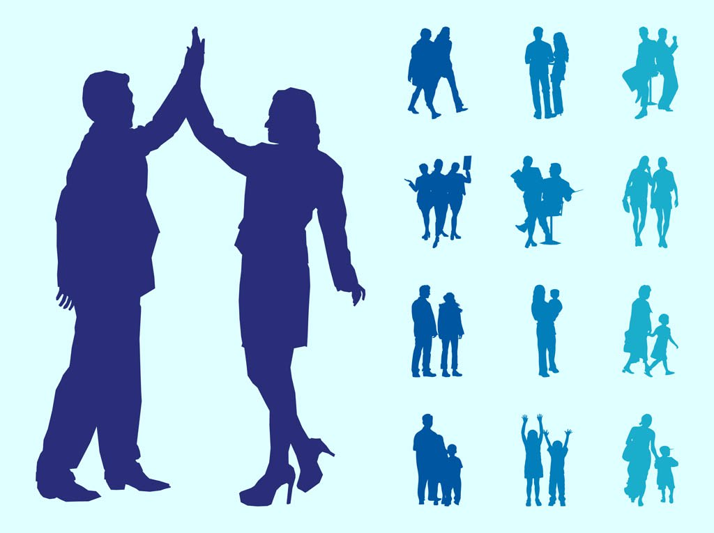 1024x765 People In Couples Silhouettes Graphics Vector Art Amp Graphics