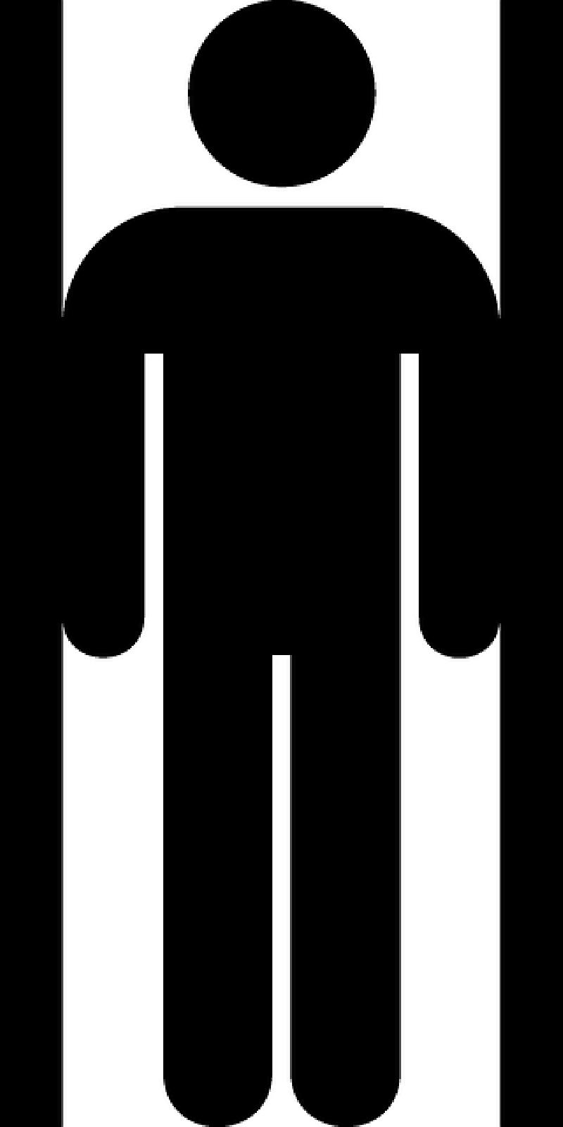 800x1600 Sign, Silhouette, Male, Toilet, Public, Bathroom Public, Man