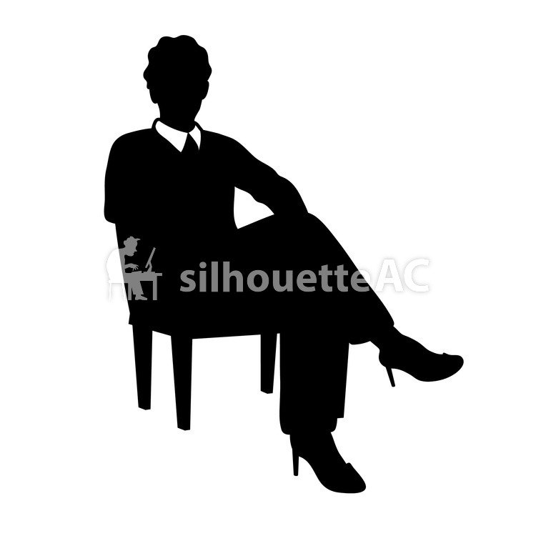 750x750 Free Silhouettes Office Worker