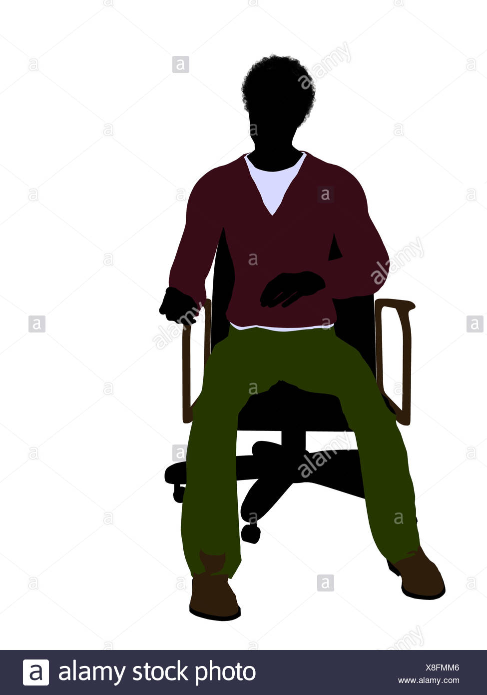 975x1390 Silhouette Man Sitting On Chair Stock Photos Amp Silhouette Man