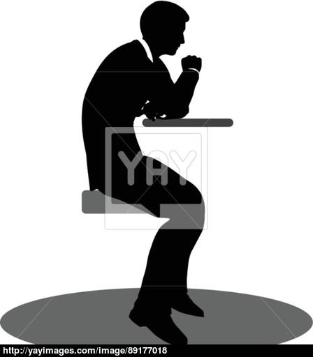 448x512 Business People Meeting Sitting Silhouette Vector