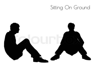 320x267 Eps 10 Vector Illustration Of Man And Woman Silhouette In Sitting