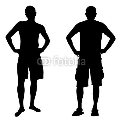 400x400 Person Standing Silhouette Vector