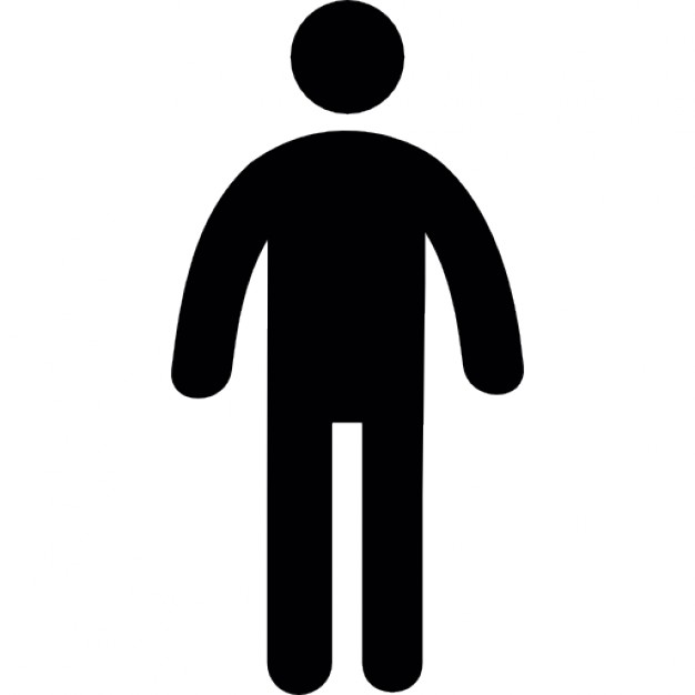 626x626 Standing Frontal Man Silhouette Icons Free Download