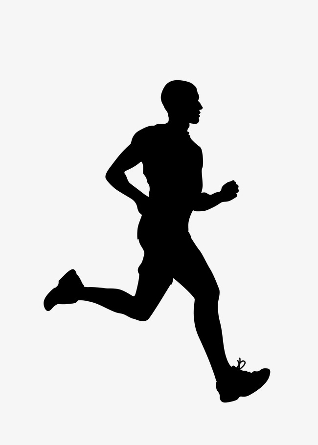 650x910 People Running, Silhouette Figures, Vector Silhouettes Png