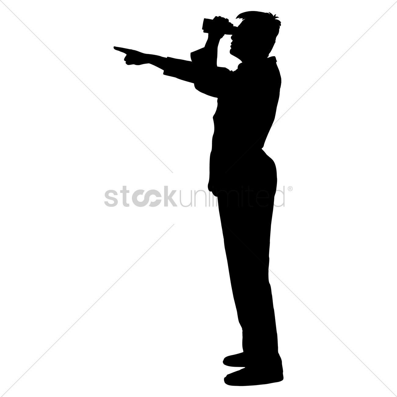 1300x1300 Silhouette Of A Man Vector Image