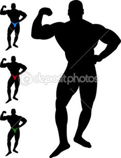 236x308 Bodybuilder Vector Silhouette Silhouettes Clipart Silhouettes