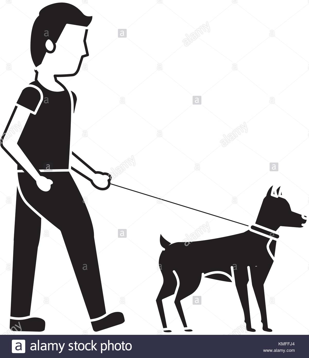 1200x1390 Man Walking Dog Cut Out Stock Images Amp Pictures