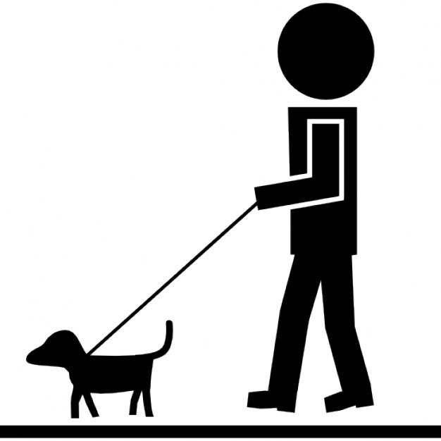 626x626 Man Walking With Pet Dog And A Cord Icons Free Download
