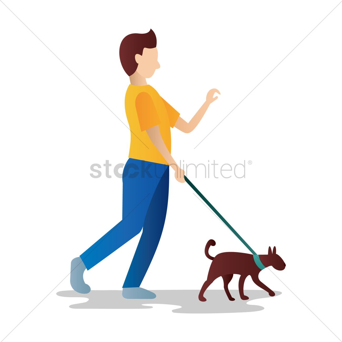 1300x1300 People Clipart Walking Dog