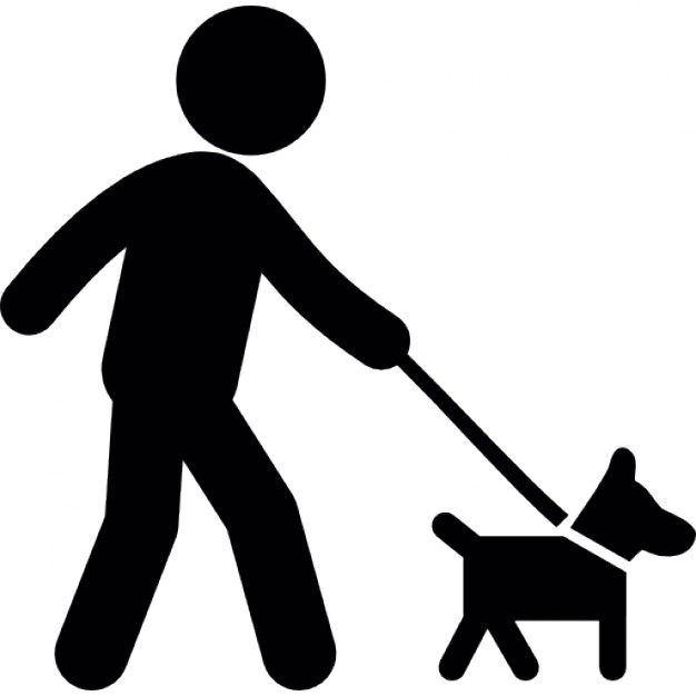 626x626 Person Walking With Dog Icons Free Download