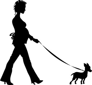 300x278 Woman Clipart Walking Dog
