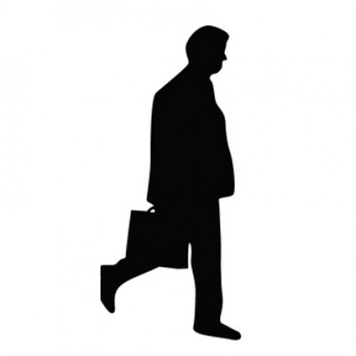 500x500 Man Walking With Briefcase Silhouette