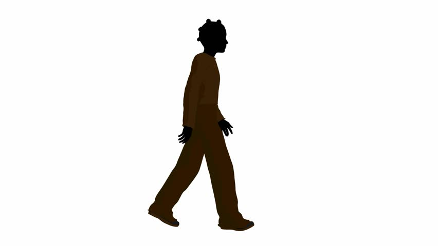 852x480 Silhouette Of A Walking Man In Cowboy Hat, 4k Shot With Alpha