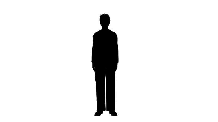 852x480 Silhouette Of Business Man Walking Stock Footage Video 3005068