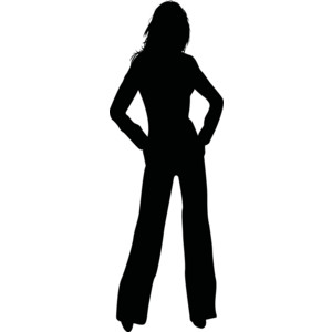 300x300 Free Silhouette Girl Cliparts, Hanslodge Clip Art Collection