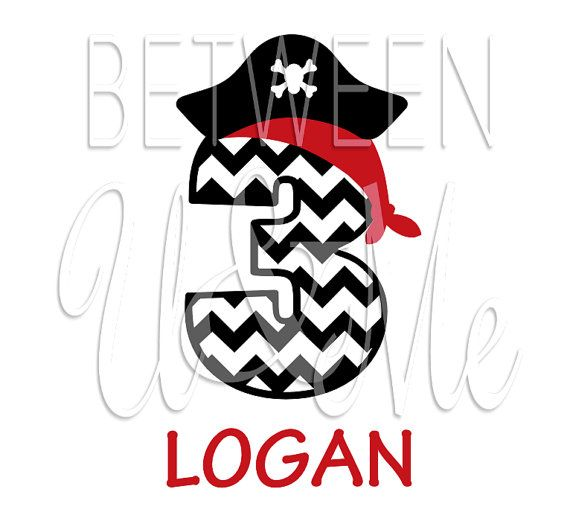 570x518 Personalized Pirate Chevron Birthday Age Name Number Ship Captain