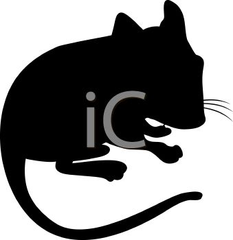339x350 Animal Silhouette Of A Pet Hamster