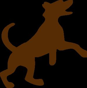 297x300 Brown Dog Jumping Clip Art