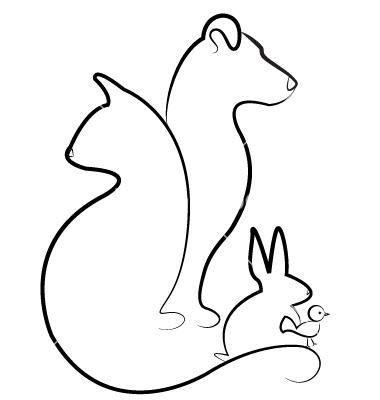 380x400 Cat Dog Rabbit And Bird Silhouettes Logo Vector 1098503