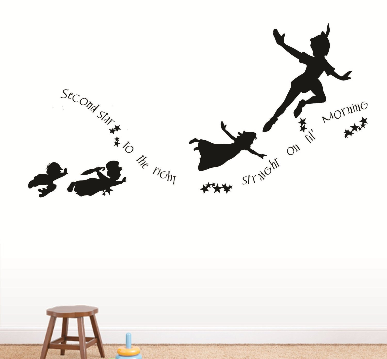 1500x1392 Peter Pan Flying Clipart