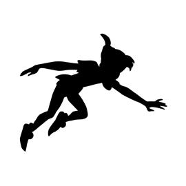 270x270 Peter Pan Silhouette Stencil Free Stencil Gallery